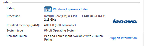 Windows Experience Index in Windows 7
