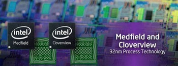 Intel Medfield and cloverview chipsets