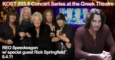 REO Speedwagon with special guest Rick Springfield at the Greek theatre