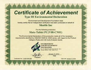 Shuttle Environmental Certifications