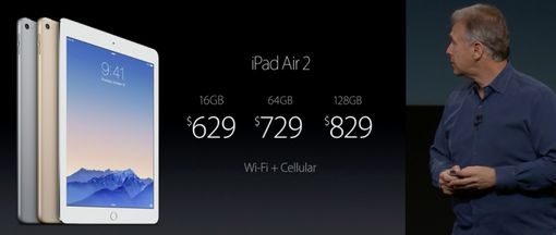 iPad Air 2 Wi-fi and Cellular pricing