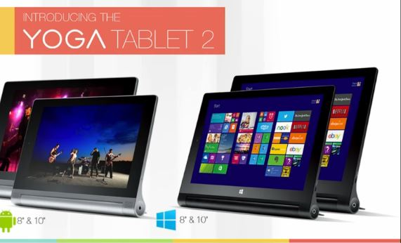 Lenovo Yoga Tablet 2 windows and Android