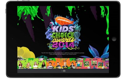 Apple iBook for Kids' Choice Awards on Tablets