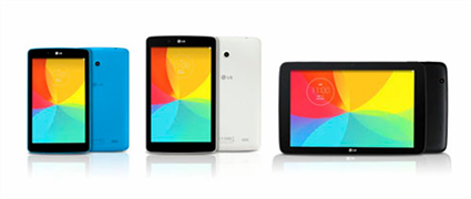 Le Tablets in three sizws