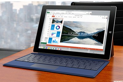 Surface 3 with dark blue keyboard