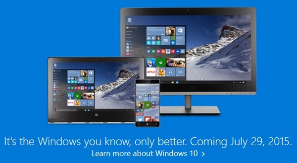 Windows 10 Coming July 29, 2015