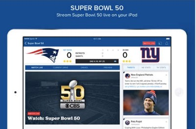 free CBS Sports app to stream Super Bowl 50 on your tablet