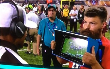 Microsoft Surface NFL sidelines