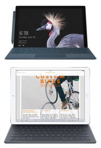 Surface Pro and iPad Pro