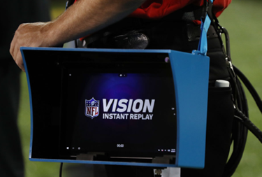 Microsoft Surface tablet on the NFL sidelines