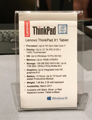 second-generation Lenovo ThinkPad X1 Tablet Specs