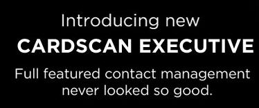 Introducing CardScan Executive