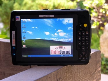 Mobile Demand Tablet PC outdoors in shade