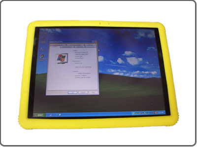 yellow tablet pc